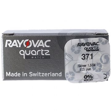 Rayovac 371 SR920SW 1.5V Silver Oxide Watch Battery